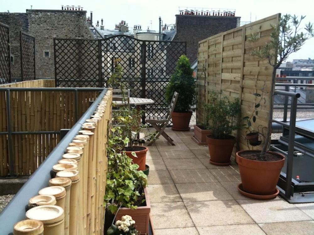 Plantation et amenagement de terrasse parisienne par un for Amenagement terrasse paris
